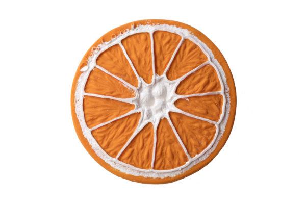 Anneau de dentition bébé en latex naturel Clementino l'orange Oli&Carol