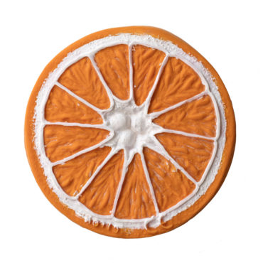 Jouet de dentition Clementino l'orange