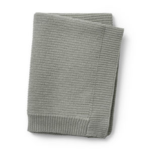 Couverture  tricot laine Mineral Green