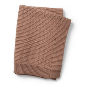 Couverture  tricot laine Faded Rose