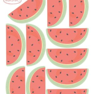 Mini sticker Pastèques Love Mae