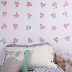 Sticker mural Fleurs Love Mae