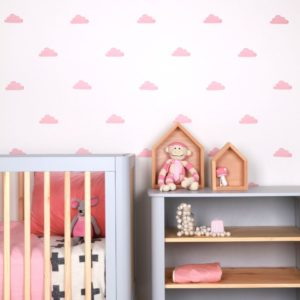 sticker-mural-chambre-bebe-nuages-rose-lovemae