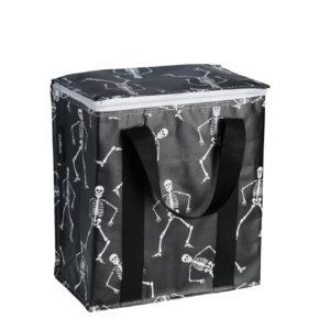 Glacière noire avec squelettes Kollab