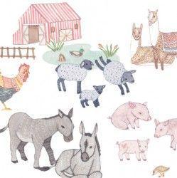 Sticker mural Animaux de la ferme