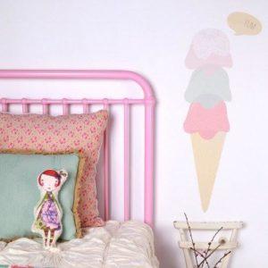 sticker-mural-chambre-enfant-cone-glace-lovemae