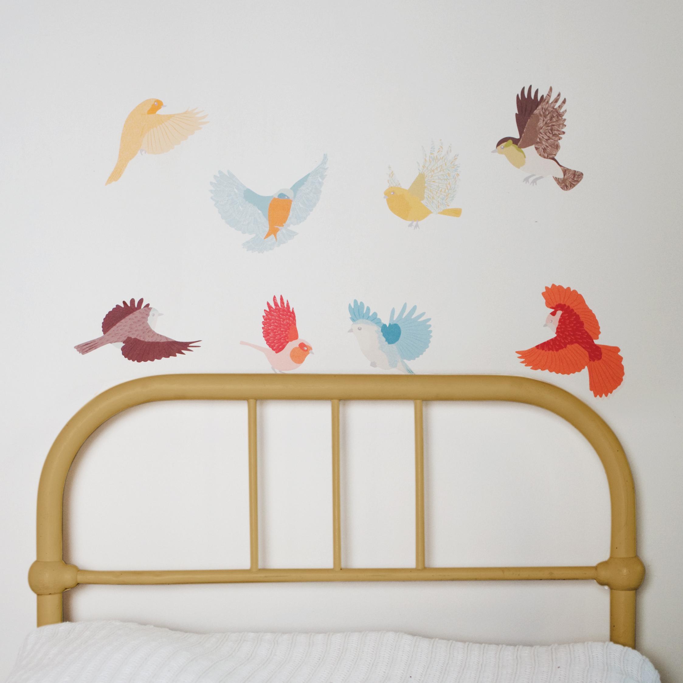 Stickers Muraux Chambre Bébé sticker mural chambre enfant oiseaux love mae | hey babe