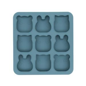 Moule multiportions en silicone bleu pour enfants We Might Be Tiny