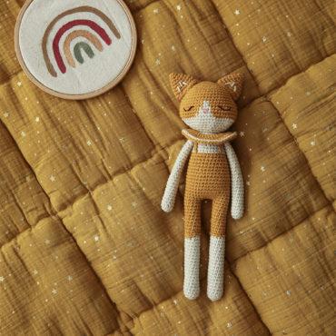 Doudou en crochet chat