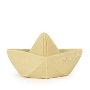 Jouet de bain Bateau Origami vanille Oli & Carol